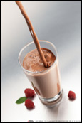 Коктейль клубника в шоколаде